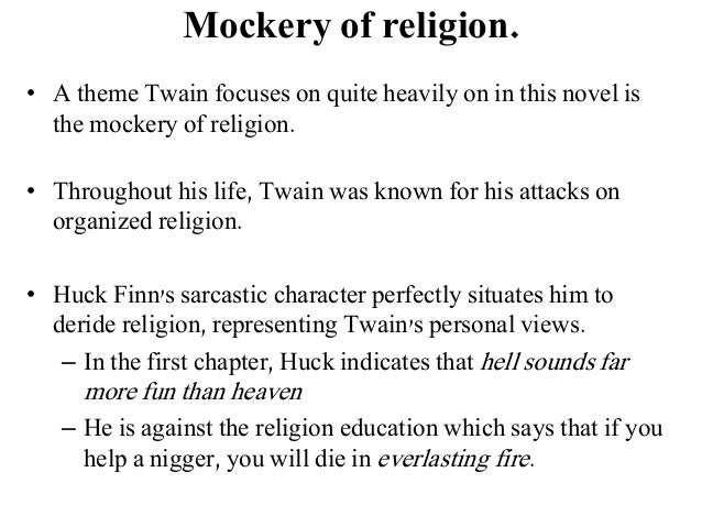 religion in the adventures of huckleberry finn