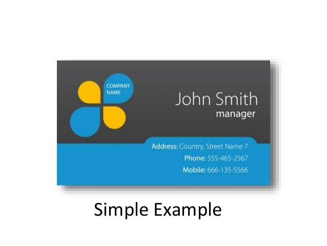 The Perfect Business Card