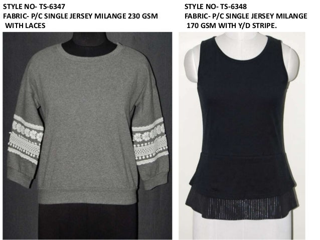 STYLE NO- TS-6349 FABRIC- S/JERSEY LYCRA 230 GSM AND S/JERSEY 120 GSM