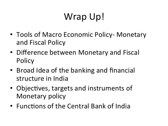 Monetary policy tools in india