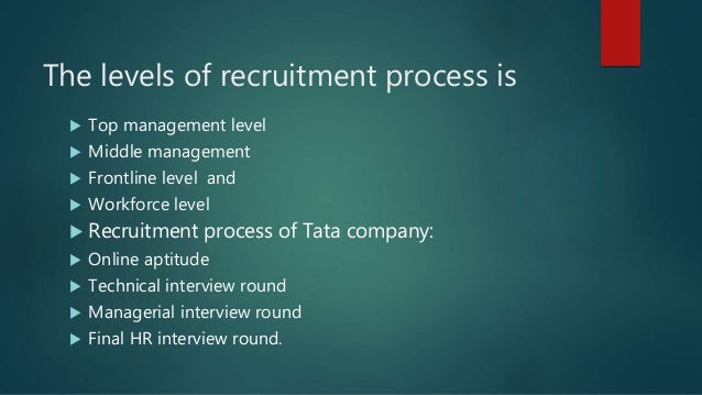 Web based on hris in hrp for Tata motors recruitment process