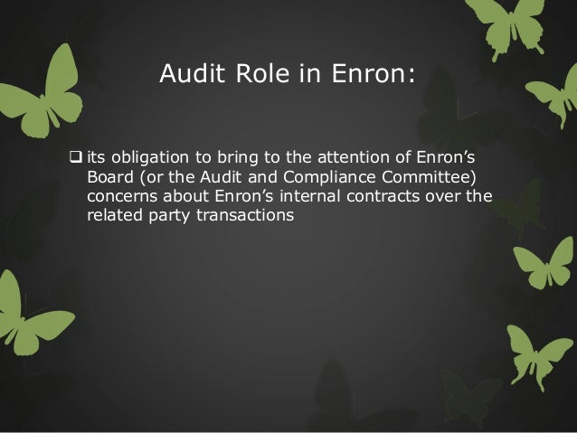 how fall of enron raised concerns about accounting issues There are indications that enron executives and its accounting firm, arthur andersen, had warnings of problems nearly a year ago according to an email sent february 6, 2001, andersen considered dropping enron as a client.