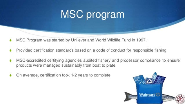 Walmart sea food sustainability case study presentation for Walmart fishing license