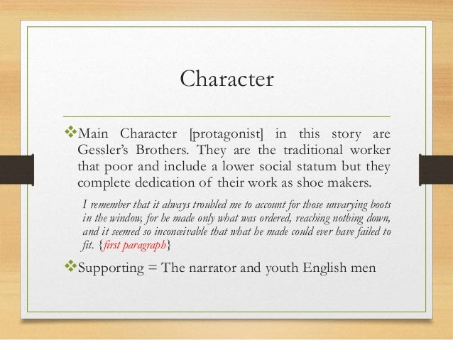 a very short story analysis Get an answer for 'a very short storywrite a short (2-3 paragraphs) thematic analysis of a story's plot please talk about how the relationship between the.