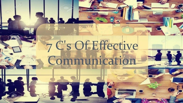 7 C's Of Effective Communication