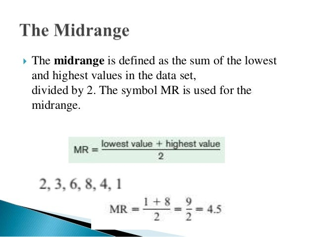 how to find the midrange in statistics