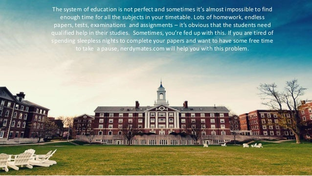 The system of education is not perfect and sometimes it's almost impossible to find enough time for all the subjects in yo...