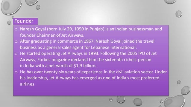 jet airways case analysis presentation Analysis of jet blue airways bus 599 october 19, 2010 analysis of jet blue airways jetblue airways corporation is an american low cost airline since 2001, the us airline industry has faced an unprecedented set of challenges.