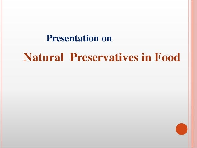 natural food preservative part-1