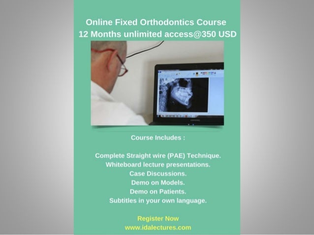 online orthodontics course