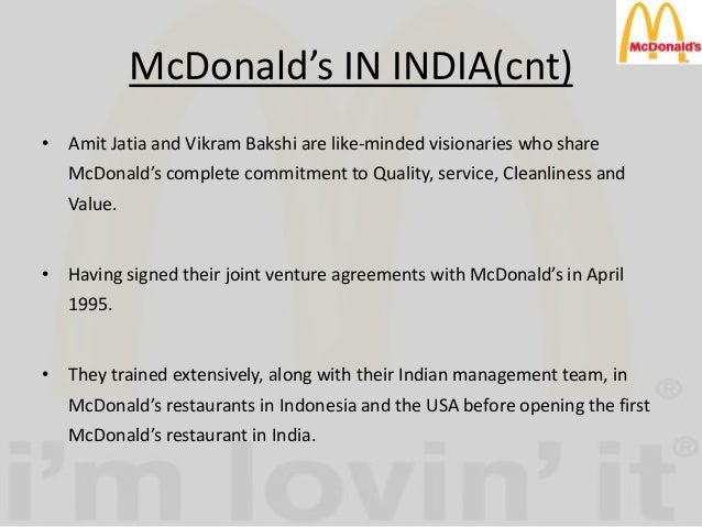 research methodology in mcdonalds Market by making a comparative study of mcdonald's and kfc, different  operation and  question introduction, methodology and kfc parts.