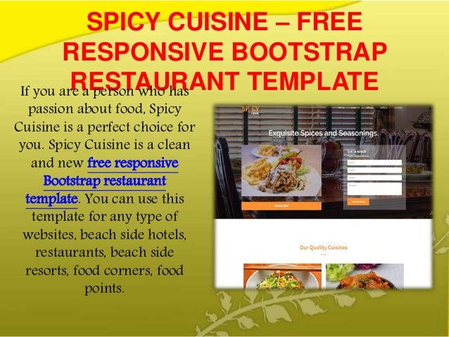10 Best Free Responsive Food Website Bootstrap Template In September