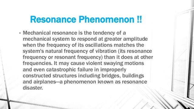 resonance phenomenon