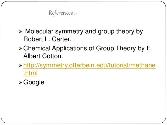 Symmetry theory molecular carter pdf and group