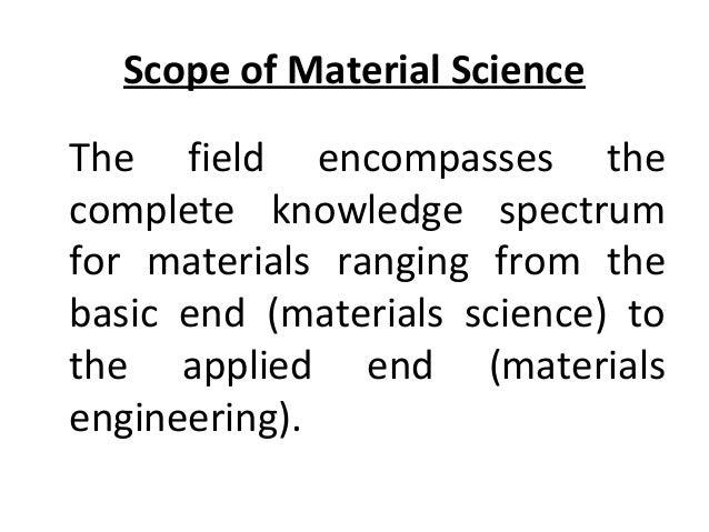 MATERIAL SCIENCE & METALLURGY