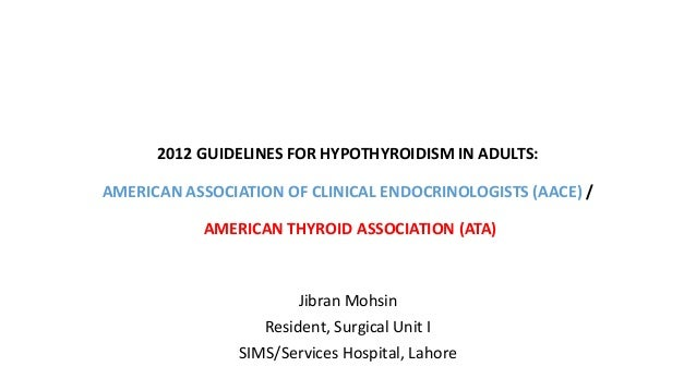 thyroid clinical practice guidelines malaysia