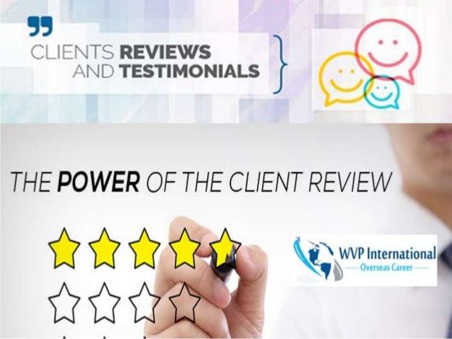 WVP International: Reviews