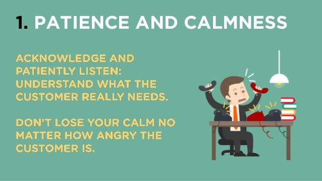 patience and calmness