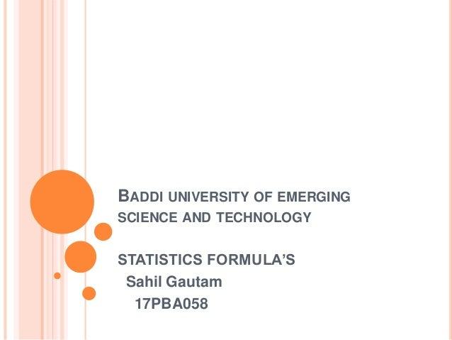 Buisness Statistical Formula ppt