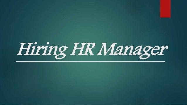 Image result for hiring HR Manager
