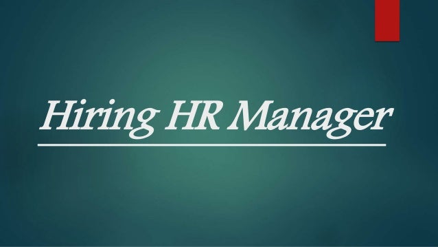 Image result for hiring HR Manager