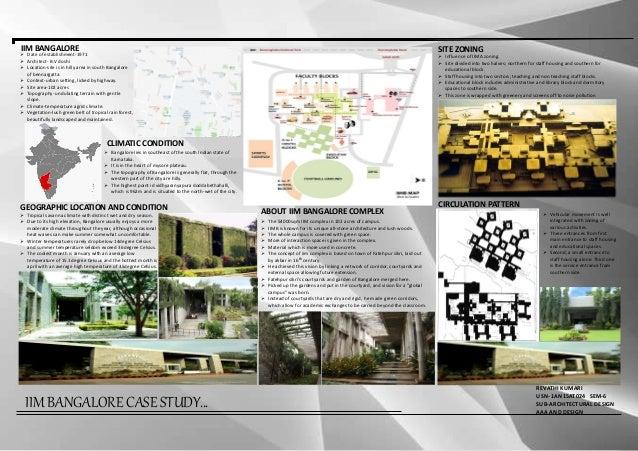 iim bangalore architecture case study slideshare