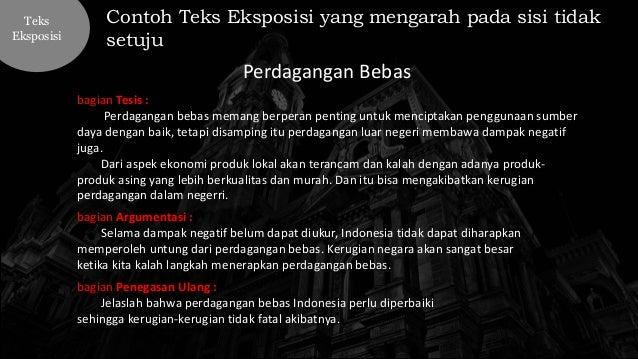 Bahasa Indonesia kelas X : Teks Eksposisi: pengertian ...