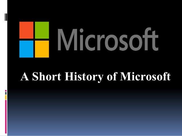 A Short History of Microsoft