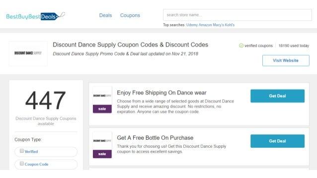 86deda5698245 Discount Dance Supply coupons off 20% Black Friday 2018