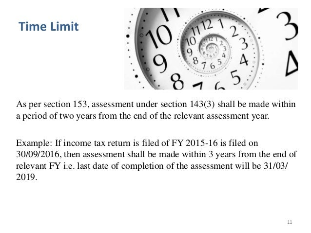 Assessment Under section 143
