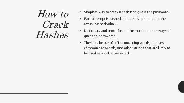 How To Crack Hash Password