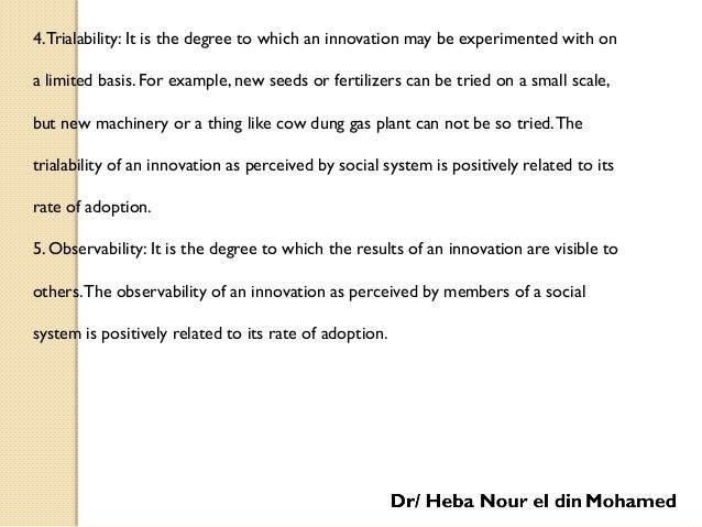 Diffusion and Adoption of Agricultural Innovations