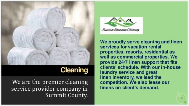 How to Avail Professional Linen Service Near You in Summit County? Slide 3