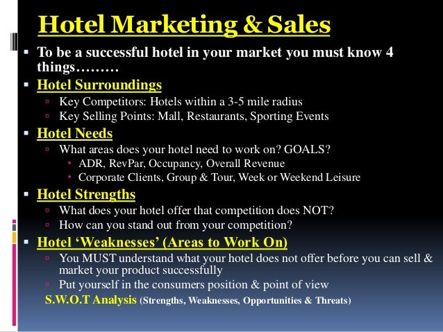 how to become a successful hotel sales manager