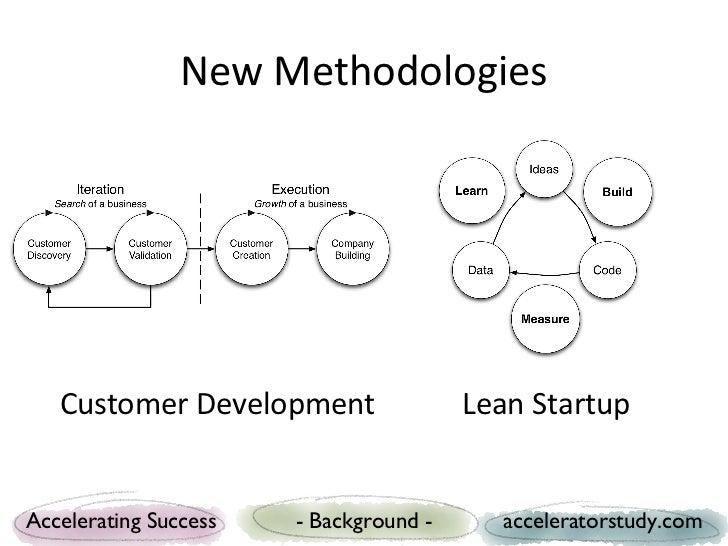New Methodologies   Customer Development                 Lean StartupAccelerating Success   - Background -     accelerator...