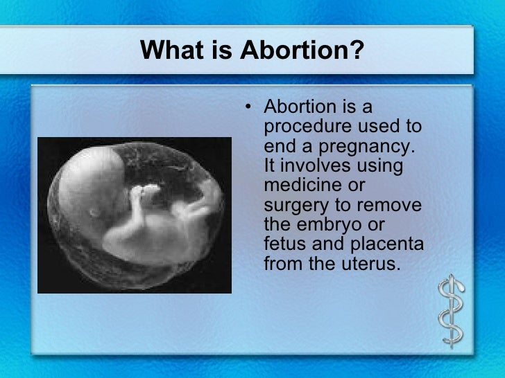 Abortions should not be used