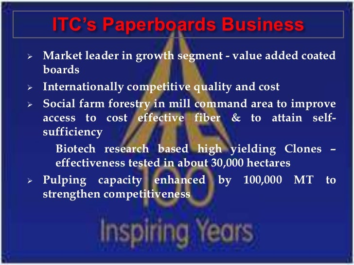 itc term paper Term paper on itc distribution strategy submitted to: dr rajendra prasad sharma sales and distribution management term paperpage 1 submitted by: hitesh bharti.