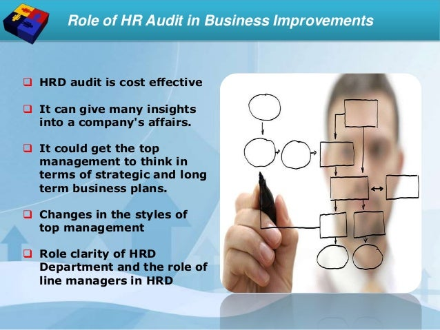 Role of HR Audit in Business Improvements  HRD audit is cost effective  It can give many insights into a company's affai...