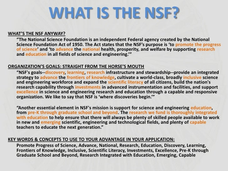 NSF Fellowship Applicants: Home
