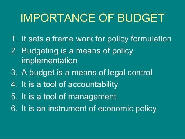 presentation1 ppt on budget