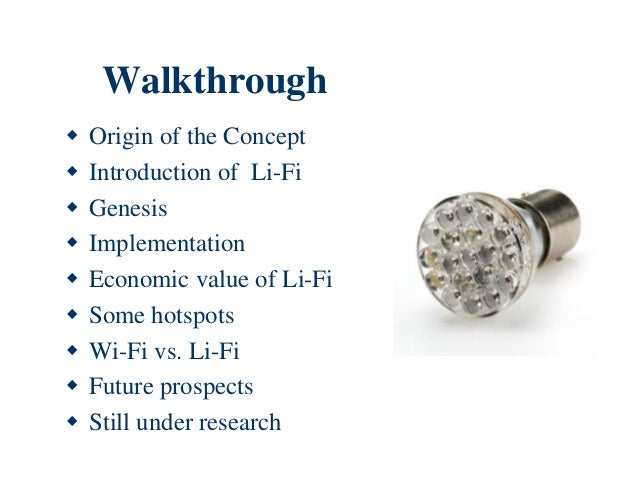 wireless led lights li fi presentation by debika sadhukhan 29408