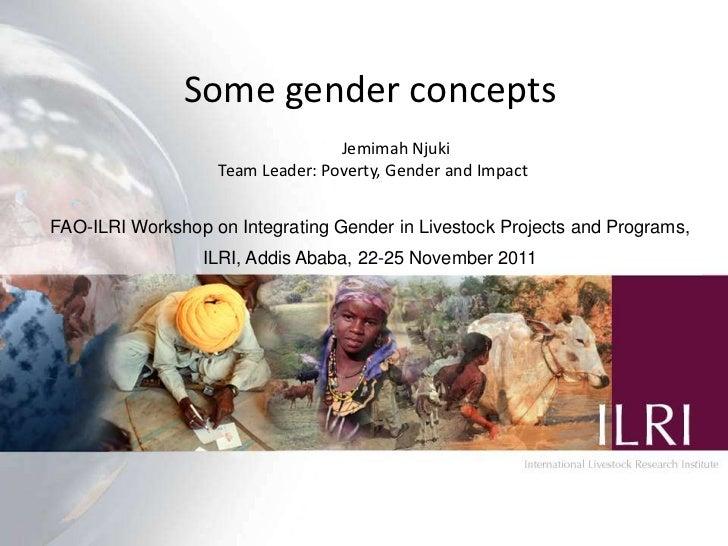 Some gender concepts                                  Jemimah Njuki                   Team Leader: Poverty, Gender and Imp...