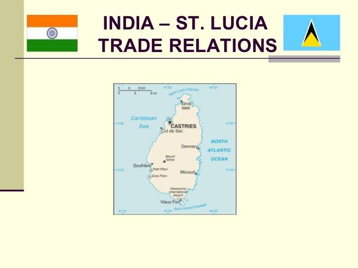 INDIA – ST. LUCIATRADE RELATIONS