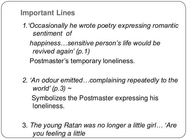 The Postmaster By Rabindranath Tagore Pdf