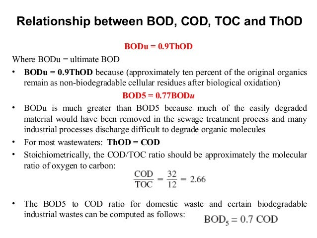 bod and cod relationship