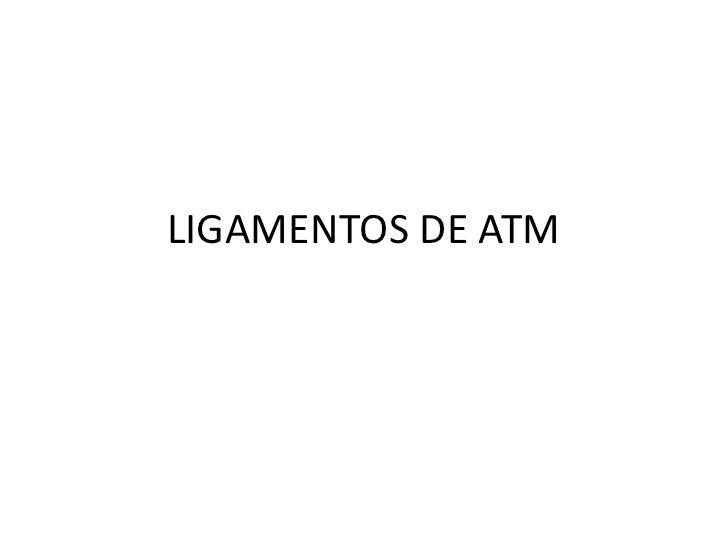 LIGAMENTOS DE ATM