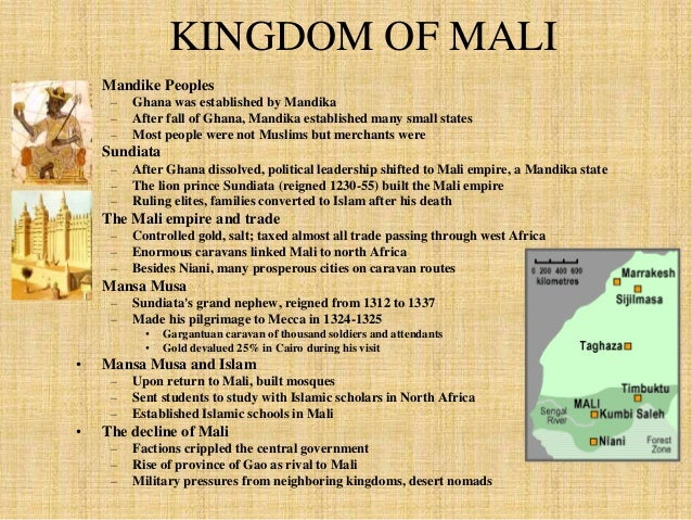 A powerful king named Sundiata ruled  this area from around 1230-1255 AD.  He led the people in conquering and  expanding ...