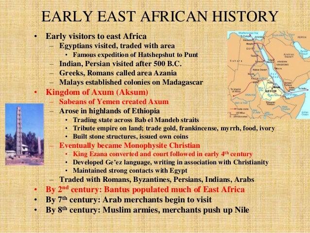 THE BANTU MIGRATION  • The Bantu Migration  – Population pressure led to migration, c. 2000 B.C.  • Movement to South, alo...