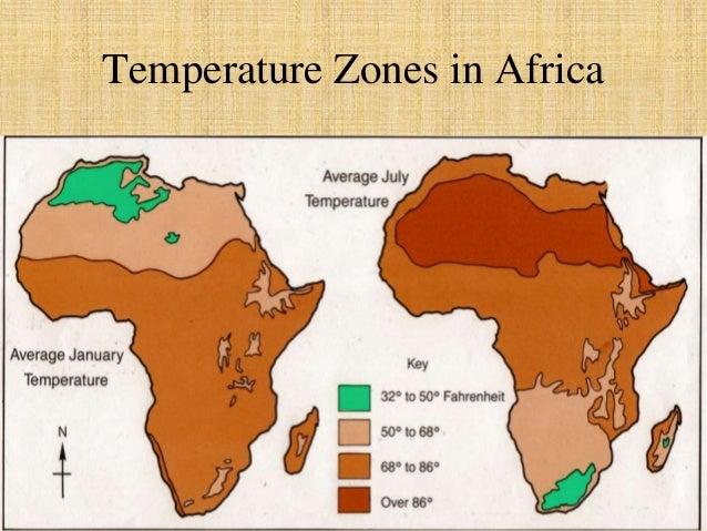 Temperature Zones in Africa