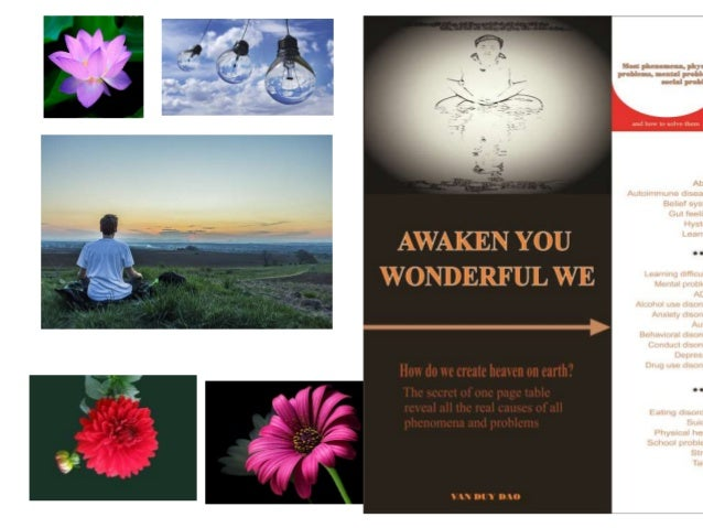 Awaken You Wonderful We COMPOUND EFFECT OF STATE OF MIND Take advantage of golden time Love – Connection – Stimulation – a...